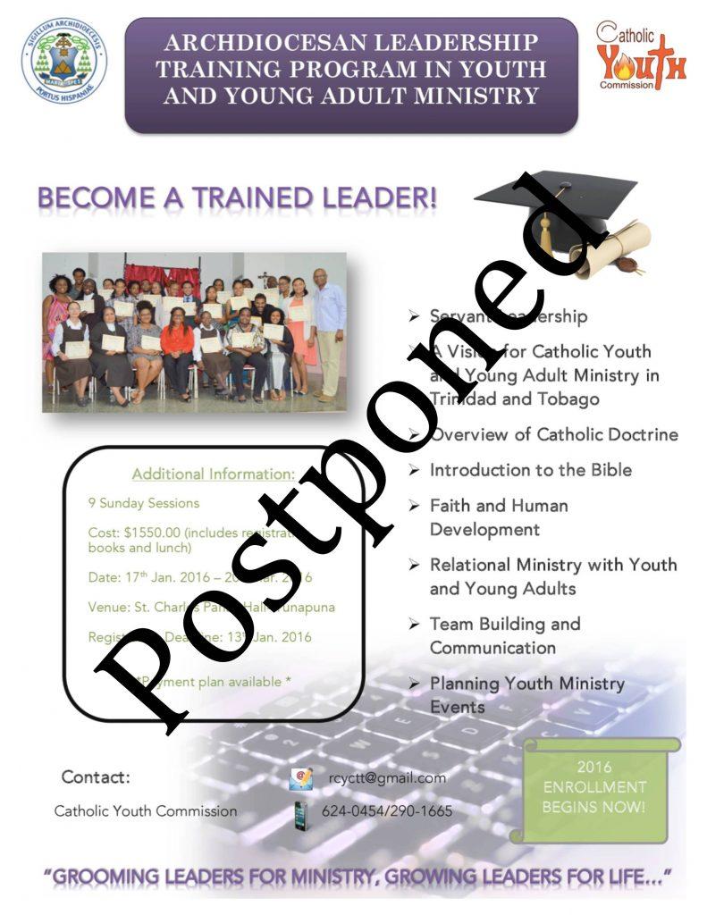 Leadership Postponed